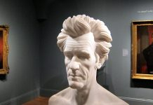 President Andrew Jackson bust within a museum. Photo courtesy of wikipedia.