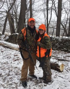 Bob Chase and his daughter hunting in Pennsylvania