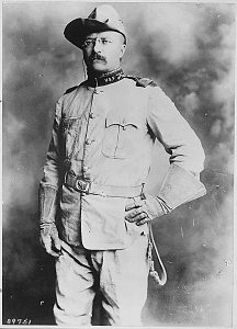Teddy Roosevelt in his Rough Rider outfit