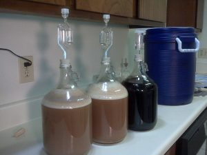 A series of carboys