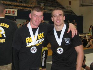 Michael Heimall with a fellow Army Combatives winner