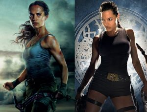 Angelina Jolie Tomb Raider and Tomb Raider w Climbing Axe