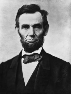 Iconic Abraham Lincoln presidential photograph