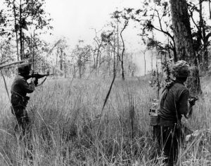Hal Moore's such a man, he created these men who don't take cover, cause they're men.