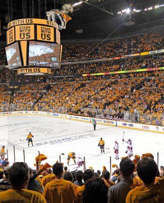 A sold out Bridgestone Arena in Nashville, TN