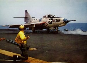 F9F Cougar, similar to the one flown by John Young