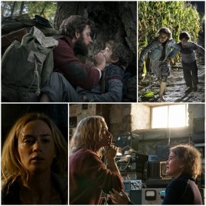 Collage still shots from A Quiet Place film