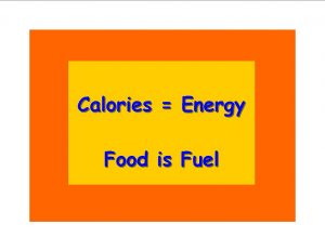 """Calories = Energy"" over ""Food is Fuel"""