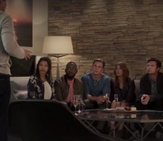 Still image with cast of Game Night