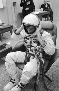 John Young in his spacesuit