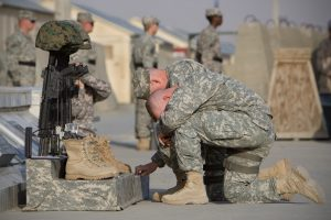 Soldiers pay respect to deceased service members