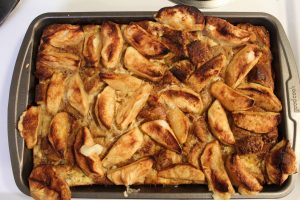 Baked Apple French Toast after completion