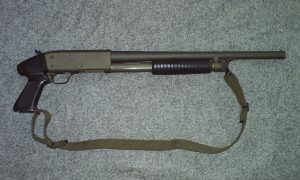 Ithaca Model 37 Parkerized pistol gripped Riot Shotgun