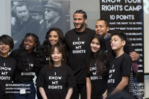 "Colin Kaepernick campaigning as a good human for ""I Know My Rights"""