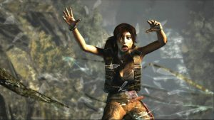 Lara Croft Parachute Fall Game