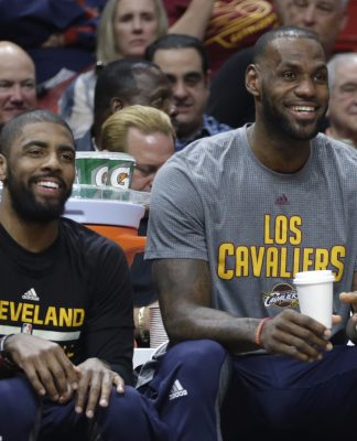 Lebron and Kyrie laugh on.