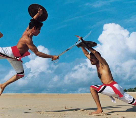 two indian warriors fighting