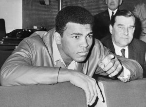 Muhammad Ali points out his next target