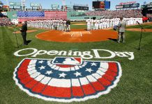 Opening day at Fenway.