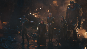 Loki surrounded by The Black Order in Infinity War