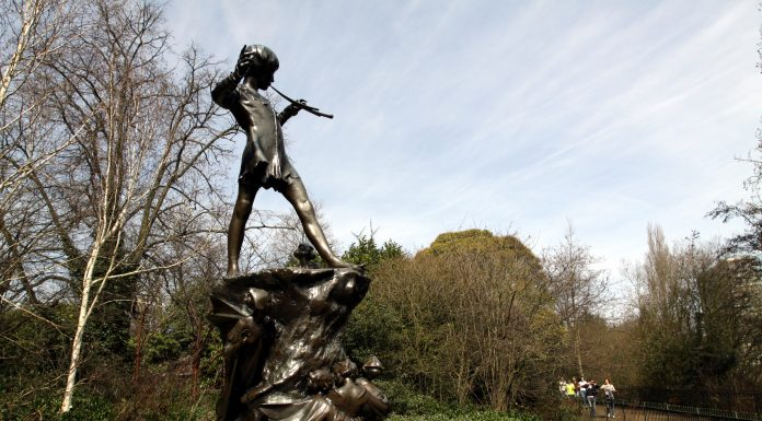 A statue of Peter Pan