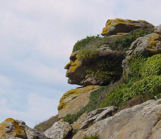A face in the rocks: Pareidolia