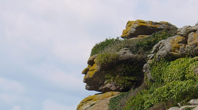 A face in the rocks: Pareidolia