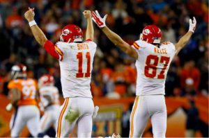 Kansas City Chiefs players celebrating