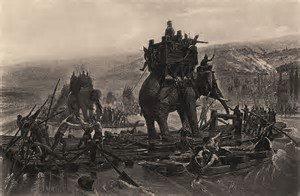elephants, warriors, thai