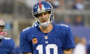 Eli Manning making a face that caused a lot of overreaction