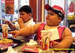 fat kid at fast food chain