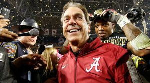 Nick Saban after the  College Football Playoffs Championship