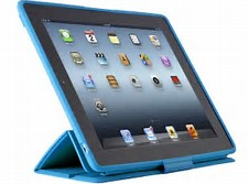 blue and black iPad