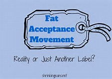 picture of a label that says Fat Acceptance Movement