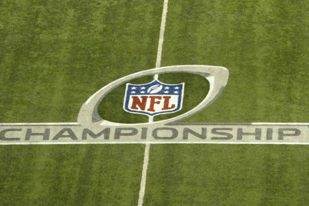 NFL logo on a field