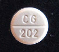 picture of a white ritalin pill