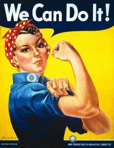 Rosie the Riviter, international women's day
