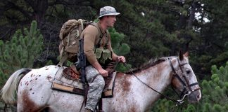Tim Kennedy on horseback