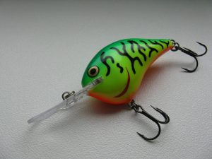 Wide wobbling crankbait used to catch fish